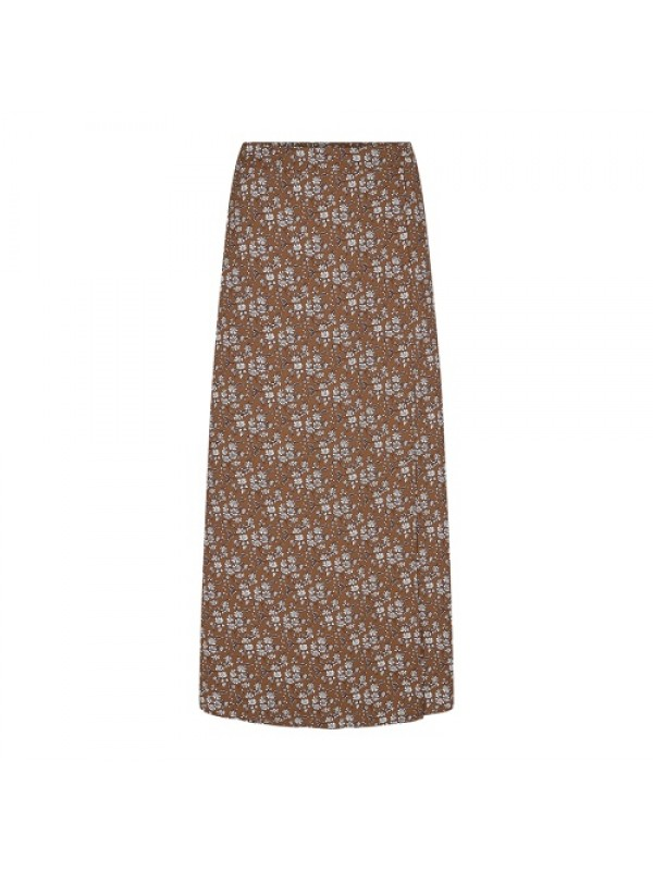 Co'couture Nederdel - Eclipse Flower Skirt, Brown