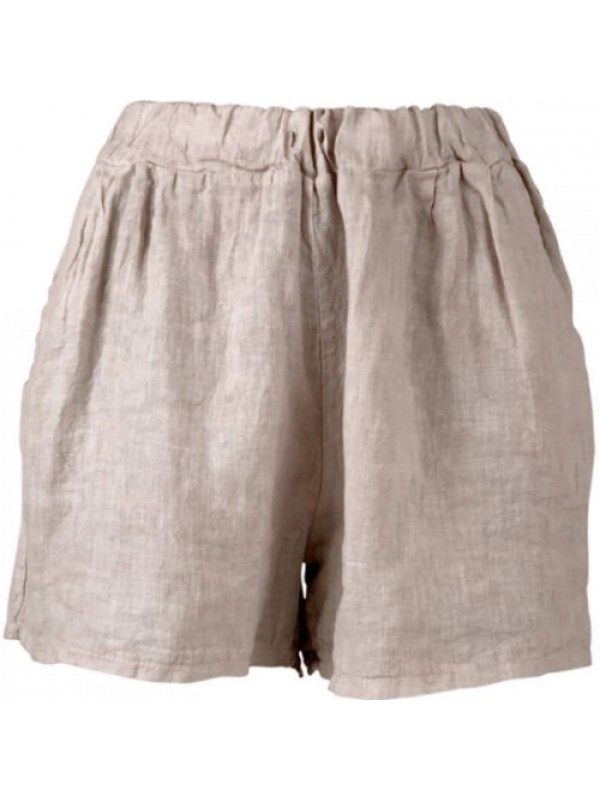 Black Colour Shorts - Lima Linen Shorts, Nature
