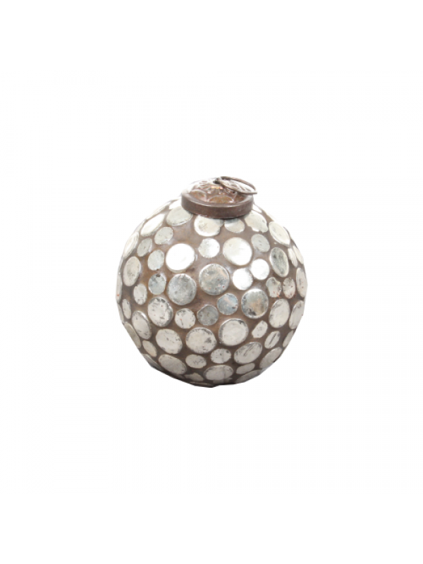 Cozy Room Silver Glass Bell - 7cm