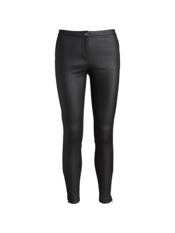 Co'couture Bukser - New Julia Coated Pant, Sort