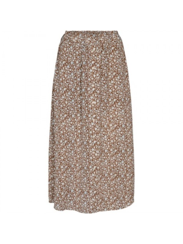 Co'Couture Nederdel - Pythia Flower Skirt, Cognac