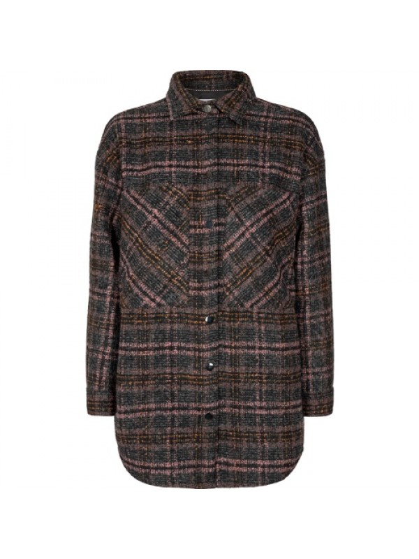 Co'Couture Skjorte - Kendall Wool Check Shirt, Sort