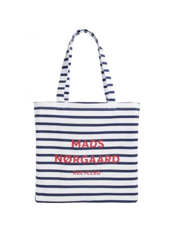 Mads Nørgaard Mulepose - Recycled Print Boutique Athene, Off White/Navy