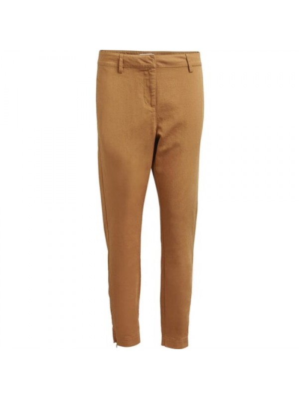 Rabens Saloner Bukser - Emy Summer Canvas Relax Fit Pant, Tobacco