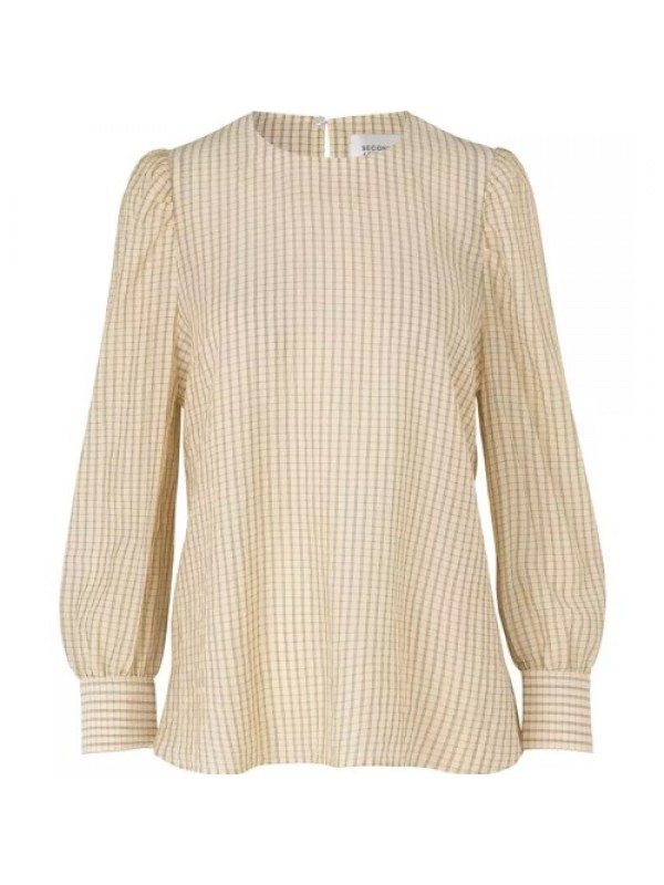 Second Female Bluse - Jasmin LS Blouse, Marzipan