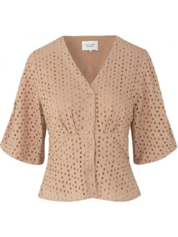 Second Female Bluse - Milly SS Blouse, Praline