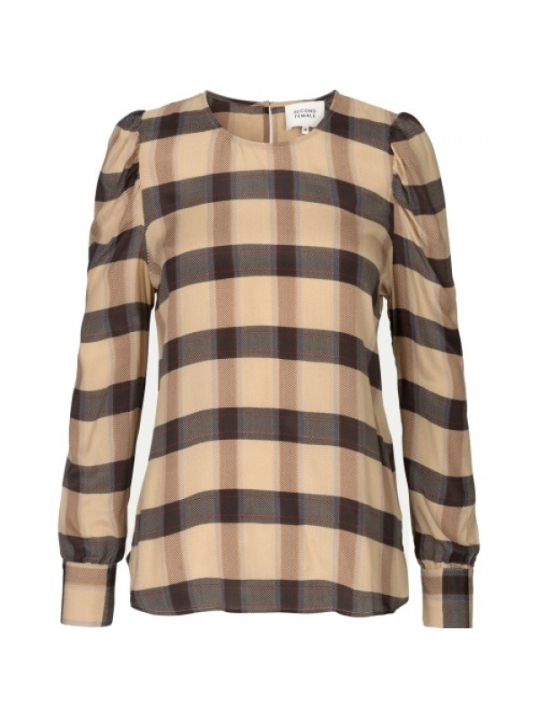 Second Female Bluse - Severin Blouse, Sepia Tint