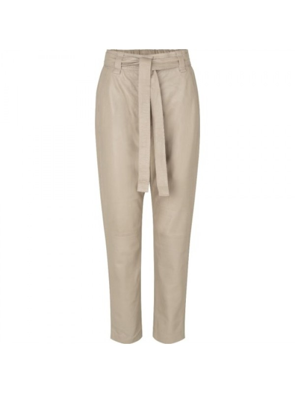 Second Female Bukser - Indie Leather New Trousers, Humus