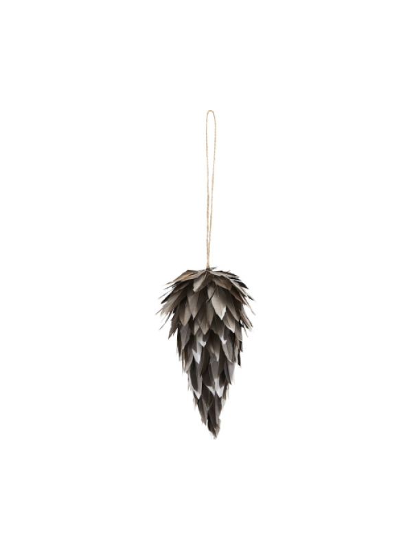 House Doctor Ornamenter Feather Cone - 10 Cm