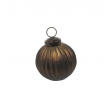 Cozy Room Gold Oxicided Ribbel Glass Bell - 7cm