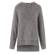 Second Female Hoodie - Galia Knit Hoodie, Dark Grey Melange